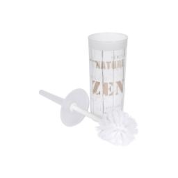 brosse wc plastique imprimé zen wood