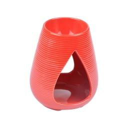 brule-parfum ceramique - design goutte - rouge