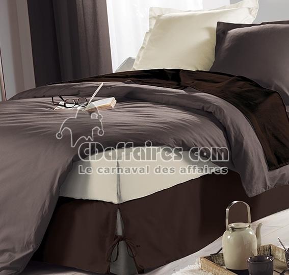 cache sommier nouette 140x190 cm panama polycoton chocolat. Black Bedroom Furniture Sets. Home Design Ideas