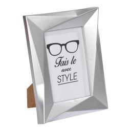 """cadre pp """"fais-le avec style"""" 20*25cm origami argent"""