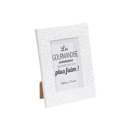 """cadre pp """"la gourmandise"""" 10*15cm geometrique blanc -"""