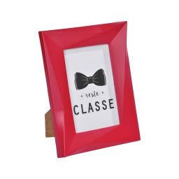 """cadre pp """"reste classe"""" 13*18cm origami rouge - en display de 12"""