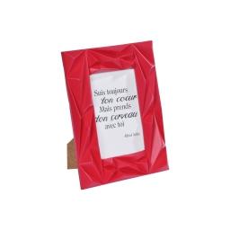 """cadre pp """"suis ton coeur"""" 10*15cm galactic rouge"""