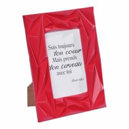 """cadre pp """"suis ton coeur"""" 20*25cm galactic rouge -"""
