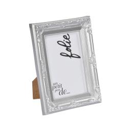 """cadre pp """"un petit peu de folie"""" 13*18cm baroque argent - en display de 12"""