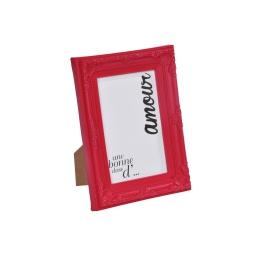 """cadre pp """"une bonne dose d'amour"""" 10*15cm baroque rouge - en display de 12"""