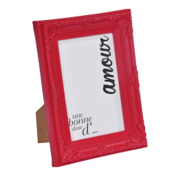 """cadre pp """"une bonne dose d'amour"""" 20*25cm baroque rouge - en display de 12"""