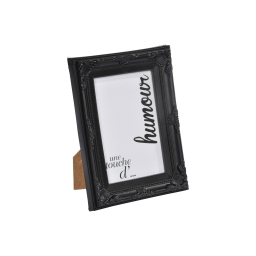 """cadre pp """"une touche d'humour"""" 10*15cm baroque noir - en display de 12"""