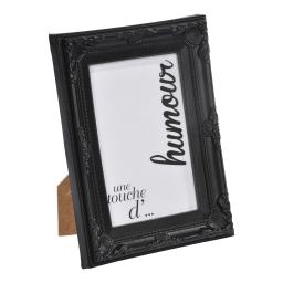 """cadre pp """"une touche d'humour"""" 20*25cm baroque noir - en display de 12"""