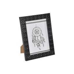 """cadre ps """"attrape rêves"""" 13*18cm tressé noir - en display de 12"""