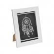 "cadre ps ""attrape rêves"" 18*24cm tressé blanc - en display de 12, image n° 1"