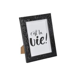 """cadre ps """"c'est la vie"""" 13*18cm martelé noir - en display de 12"""
