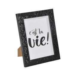 """cadre ps """"c'est la vie"""" 18*24cm martelé noir - en display de 12"""
