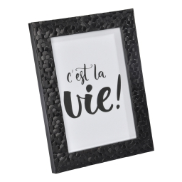 """cadre ps """"c'est la vie"""" 24*30cm martelé noir - en display de 12"""