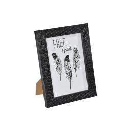 """cadre ps """"free spirit"""" 13*18cm nid d'abeilles noir - en display de 12"""