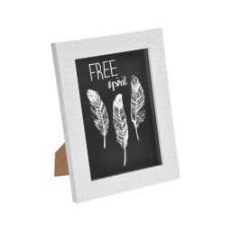 "cadre ps ""free spirit"" 18*24cm nid d'abeilles blanc - en display de 12"