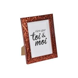"""cadre ps """"toi & moi"""" 13*18cm martelé cuivre - en display de 12"""