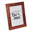 """cadre ps """"toi & moi"""" 24*30cm martelé cuivre - en display de 12, image n° 1"""