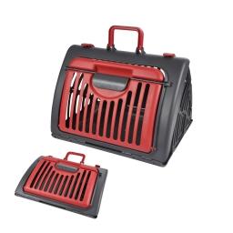 Caisse de transport pliable plastique l46*l35*h33cm anthracite/rouge Rouge / Gris