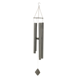 carillon en metal h.120cm - coloris gris anthracite