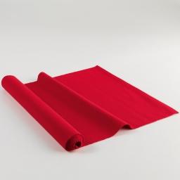 Chemin de table 40 x 140 cm coton uni chatouille Rouge