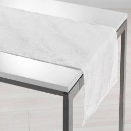 Chemin de table 40 x 140 cm shantung applique scintille Blanc
