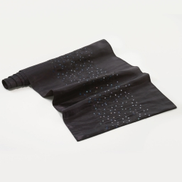 Chemin de table 40 x 140 cm taffetas brode sequins steely Noir