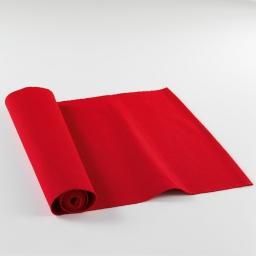Chemin de table 40x140 coton uni saliere Rouge