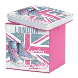 coffre de rangement pliable 38 x 38 x 38 cm polyester imprime girly london