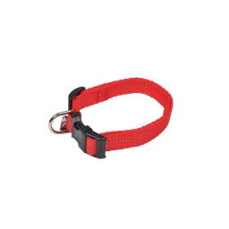 collier reglable en pp de 25 a 35cm*largeur 10mm - rouge