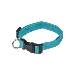 collier reglable en pp de 30 a 45cm*largeur 16mm - bleu