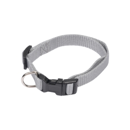 collier reglable en pp de 30 a 45cm*largeur 16mm - gris
