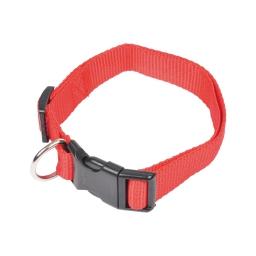 collier  reglable en pp de 45 a 65cm - rouge