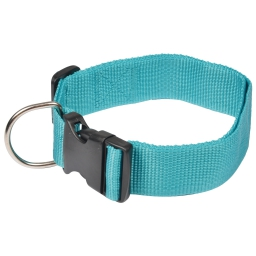 collier reglable en pp de 50 a 70cm*largeur 40mm - bleu