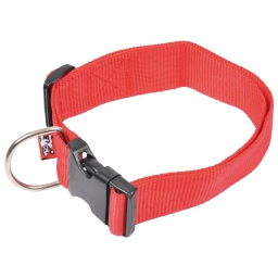 collier reglable en pp de 50 a 70cm*largeur 40mm - rouge