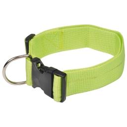 collier reglable en pp de 50 a 70cm*largeur 40mm - vert anis