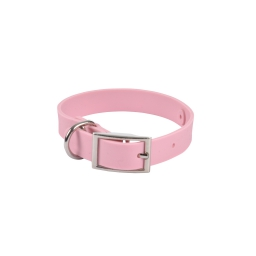 Collier silicone 30*1.5cm*2mm effet mat Rose Poudre