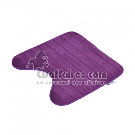 contour wc mémoire de forme microfibre 45*45cm vitamine prune