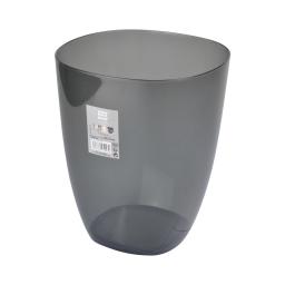corbeille plastique translucide 5,5l vitamine anthracite