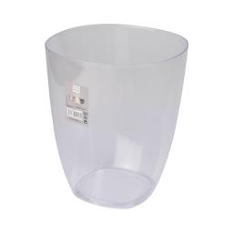 corbeille plastique translucide 5,5l vitamine blanc