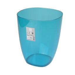 corbeille plastique translucide 5,5l vitamine bleu ocean