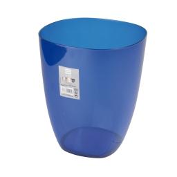corbeille plastique translucide 5,5l vitamine bleu roi