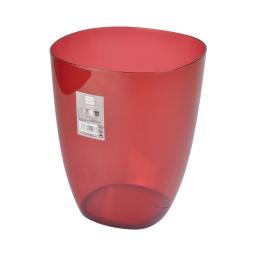 corbeille plastique translucide 5,5l vitamine rouge