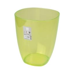 corbeille plastique translucide 5,5l vitamine vert anis