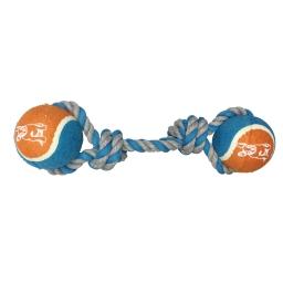 corde avec 2 balles de tennis h10.5*2.5*2.5cm - 1 coloris bleu/gris