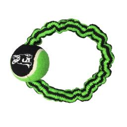 corde élastique ronde + balle de tennis h9.5*2.5*2.5cm - 1 coloris vert/noir