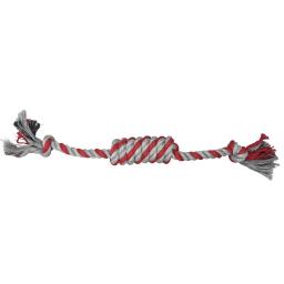corde long noeud + petits noeuds h19*2*2cm - 1 coloris rouge/gris