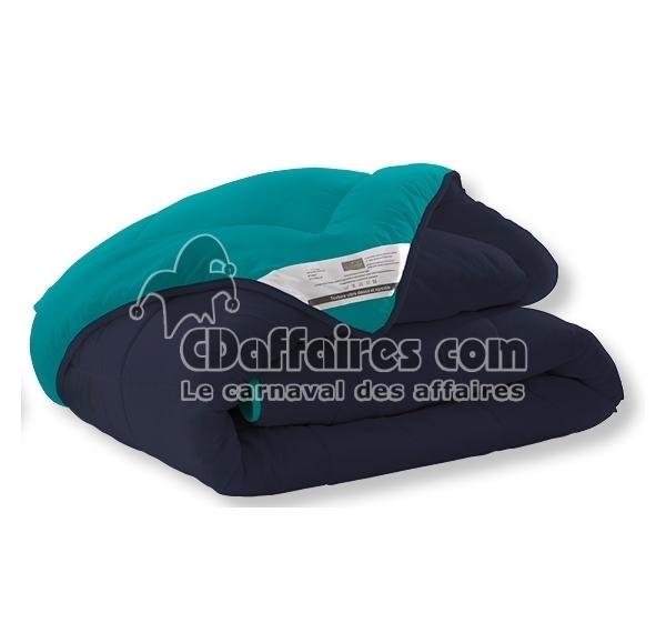 Couette r versible bicolore bleu vert 140x200 cm ebay - Couette moelleuse ...