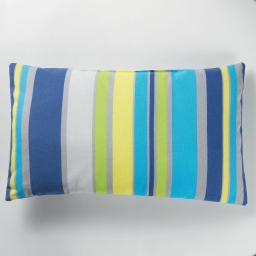 Coussin 30 x 50 cm coton imprime marina Bleu