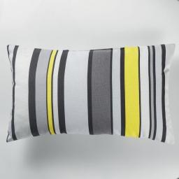 Coussin 30 x 50 cm coton imprime marina Jaune